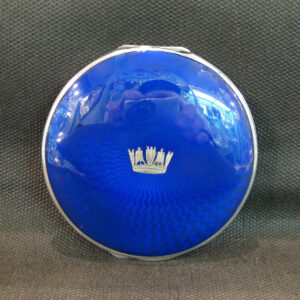 Silver and enamel Royal Navy compact