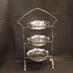 Silver plated 3 tier cake stand & cakestand | Product tags | AMS Antiques