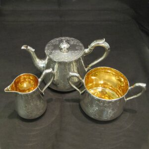 Silver tea set by Storr and Mortimer