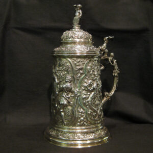An Antique German Silver Stein Tankard