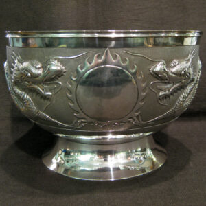 Antique silver Chinese silver Dragon bowl.
