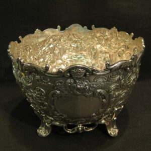 Antique silver flower/rose bowl.