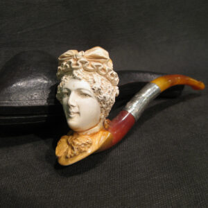 A Meerschaum and amber pipe by Singleton & Cole Ltd.