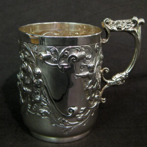 Silver Christening cup by Wakely & Wheeler.