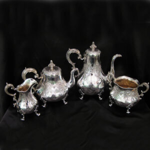 Important silver four piece tea and coffee set