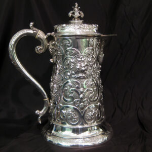 Exceptional Silver Beer Jug by Hennell.