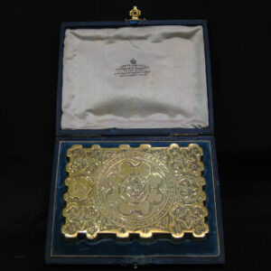 Superb quality card case silver gilt.