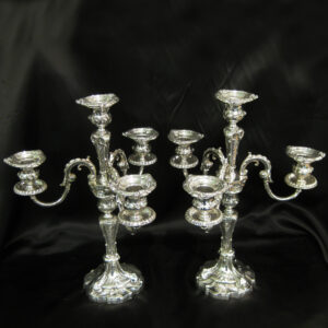 A stunning pair of candelabra by John Round