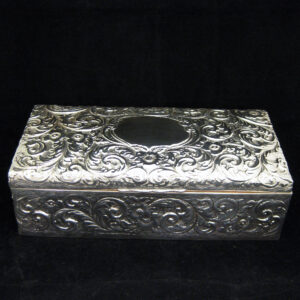Large ornate sterling silver box