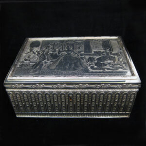 A silver plated Jewellery box by Palais Royale.