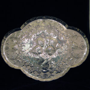 Silver letter tray by William Comyns & sons
