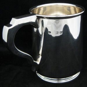 Large sterling silver tankard.
