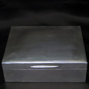 Large silver cigar box By Skinner & Co