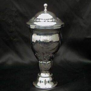 Danish arts & crafts silver cup with cover