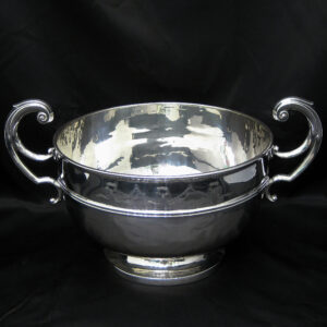 Large silver two handled bowl by Baker Brothers & co